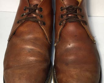 Red Wing® 595 Heritage Work Chukka Brown Leather Work boots Men's Size 12