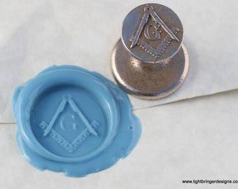 Masonic Wax Seal - square and compass