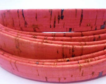 Pre Cuts: 10mm Flat Natural Portuguese Cork, Dark Pink