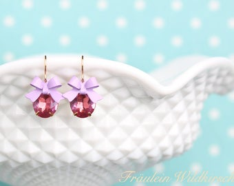 """""""Pinky-Tinky"""" Vintage gold earrings"""