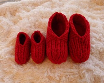 Double Knit Slippers for family, Baby, Toddler, Teen,Adult, Boy, Girl, Men, Women,  Ombre, Flowered or Fluffy, Color Chart