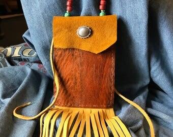 Deerskin Medicine Bag with Eel