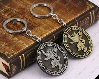 Antique Silver and Bronze ~ Game of Thrones House Lannister Key Chain