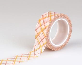 Carta Bella Decorative Tape - Orange Plaid