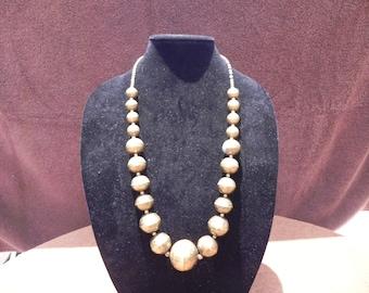 Vintage Jewelry African Ethiopian Ashanti Tribal Brass Statement Necklace