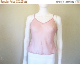 25% off SALE sheer light mauve camisole