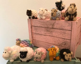 Handmade Amigurumi Crocheted Small and Tiny Lambs/Sheep