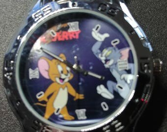 "Rare Mans Looney Tunes ""Tom & Jerry"" Watch L@@K"