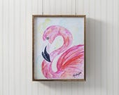 Flamingo Watercolor-Anima...