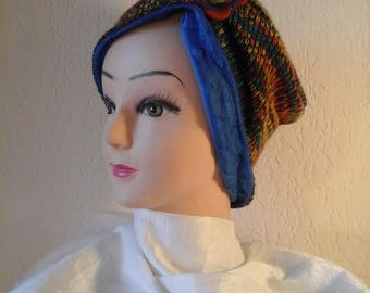 Reversible chemo stretchy winter Hat woman, girl