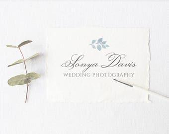 Photography logo floral, Calligraphy logo, Boutique logos, Business logo stamp, Feminine logo, Wedding Logo, Simple Floral Logo, L131
