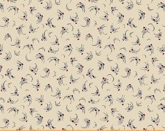 Windham Freedom Bound Cream Red Blue Swirl Background Civil War 41972-5 Fabric BTY