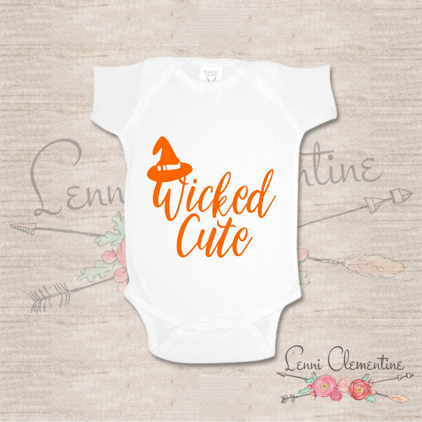 Wicked Cute Bodysuit Wicked Cute Baby Halloween Baby Clothes