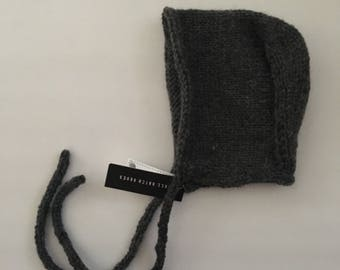 12-18 months Knitted Baby Bonnet