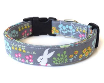 Easter Dog Collar, Easter Bunny Collar, Spring Dog Collar, Cute Dog Accessories, Floral Dog Collar, Easter Gift, Pet Accessories, Girly Dog