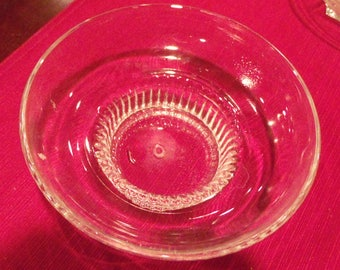 Glass Bowl-Prescut on round pedestal