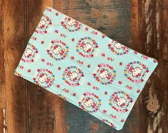 Handmade Burp Cloth - Hello Kitty -- by Antique Elephant