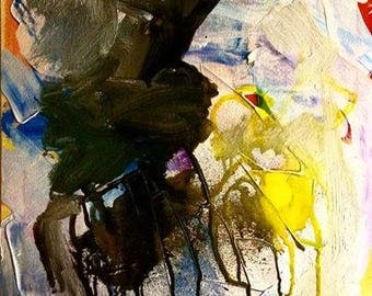 """You Are My Sunshine - Original Abstract Art Acrylic Painting 20""""x 16"""""""