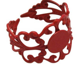 1 x red filigree Adjustable ring finding