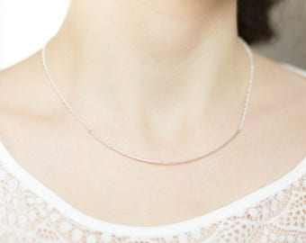 Simple 925 silver wire necklace