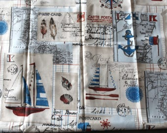 "Coupon fabric ""seascape"" upholstery 68 x 50 cm"