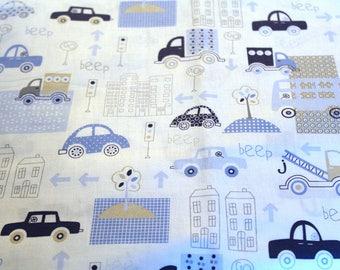 Fabric coupon cars 50 x 70 cm