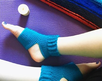 Crochet yoga socks- pilates, dance