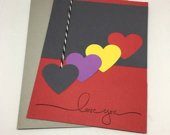 Love Card - Greeting Card - Love You Card - Handmade Card - Sale - Last Chance