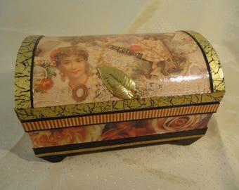 Victorian Treasure Chest - Jewelry, Keepsake, Trinket Box