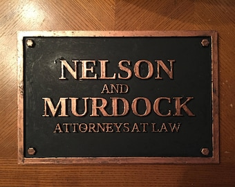 1:1 Nelson and Murdock Replica Sign, Daredevil, 3D Printing, Marvel, Defenders