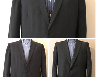 Two mens jackets, Paul Smith  & Jaeger// Grey – Black  -  '' spring / summer // vintage