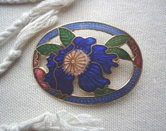 Vintage Blue Pin, Vintage Brooch, Vintage Floral Pin, Vintage Blue Brooch, Blue Floral Pin, Accessories, Gift Ideas, Scarf Pin, Blazer Pin