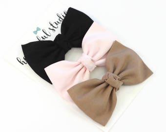 Baby Bows - Baby Bow headbands - Baby Bow Set - Headband Set - Bow Headband Set - Baby Headband Set