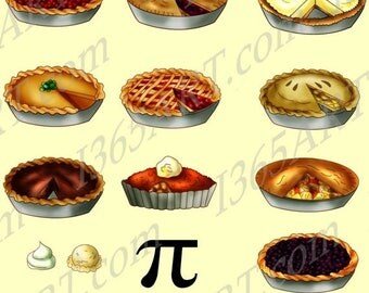 50% OFF Pie Clipart, Pie clip art, food clipart, baked pies, Party Invitations, Scrapbooking, JPEG PNG, Digital Download, Commercial