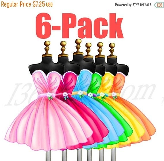 50 Off Cocktail Dresses Clipart 6 Pack Beautiful Dress