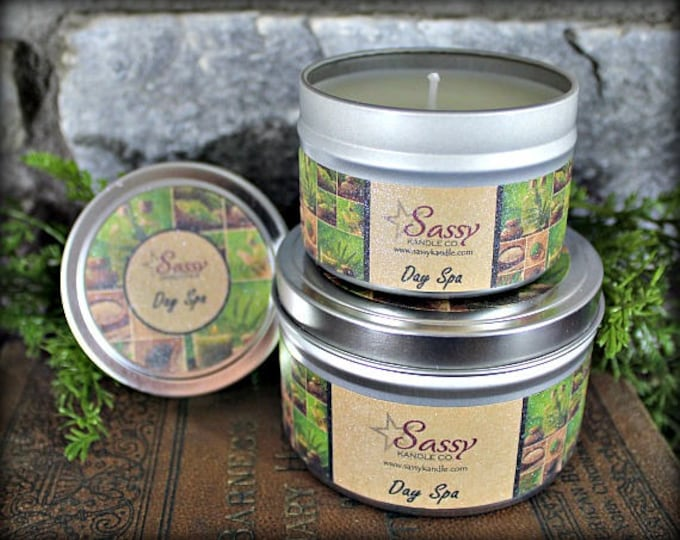 DAY SPA | Candle Tin (4 or 8 oz) | Sassy Kandle Co.