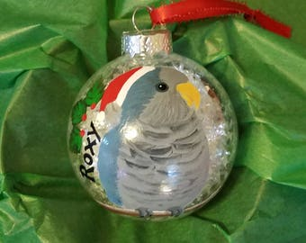 Blue quaker Christmas ornaments