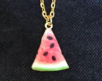 Watermelon Necklace Watermelon Jewelry