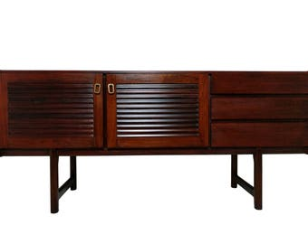 Rosewood Mid Century Modern Credenza or media console by Mcintosh, MCM 008 -  Free Shipping!