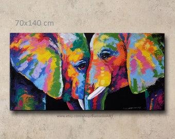 70 x 140 cm,Elephant Painting wall decor