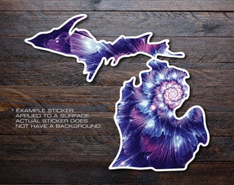 Michigan Mitten Vinyl Decal Sticker A34