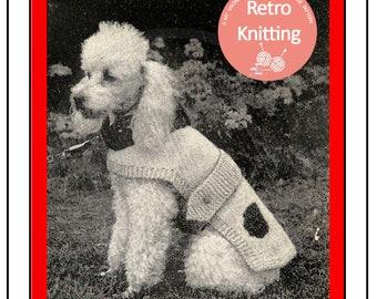 Knitted Dog Coat 1950's Vintage Pattern  - PDF Knitting Pattern - PDF Instant Download