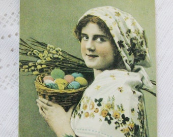 "Antique reproduction post cards ""Happy Easter! "". Not used. Vintage Easter decor, holiday decor. Made in USSR"