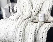 Knitting Pattern | LiLiKnits Jumbo Knit Throw Blanket Pattern | THE GRANDE | Instant Download