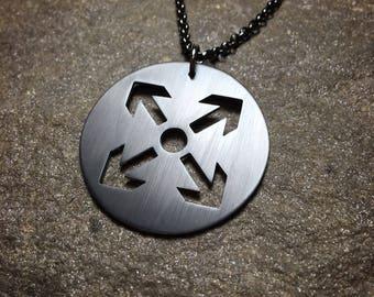 Tiwaz Rune Heathen Necklace - Tyr Fenrir Viking Pagan