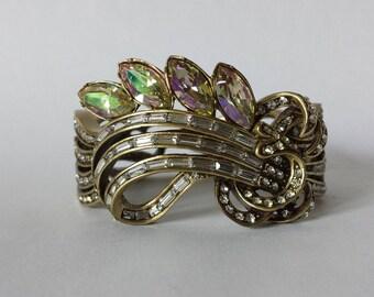 Heidi Daus NEW Simply Sophisticated Crystal Bangle Bracelet Costume Jewelry