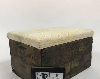 Upholstered Crate Storage Ottoman - Daffodil X