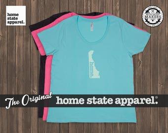 Delaware Home. T-shirt- Women's Curvy Fit