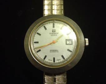 Vintage Tissot Sideral Automatic Fiberglass Wrist watch -- Not Running Parts