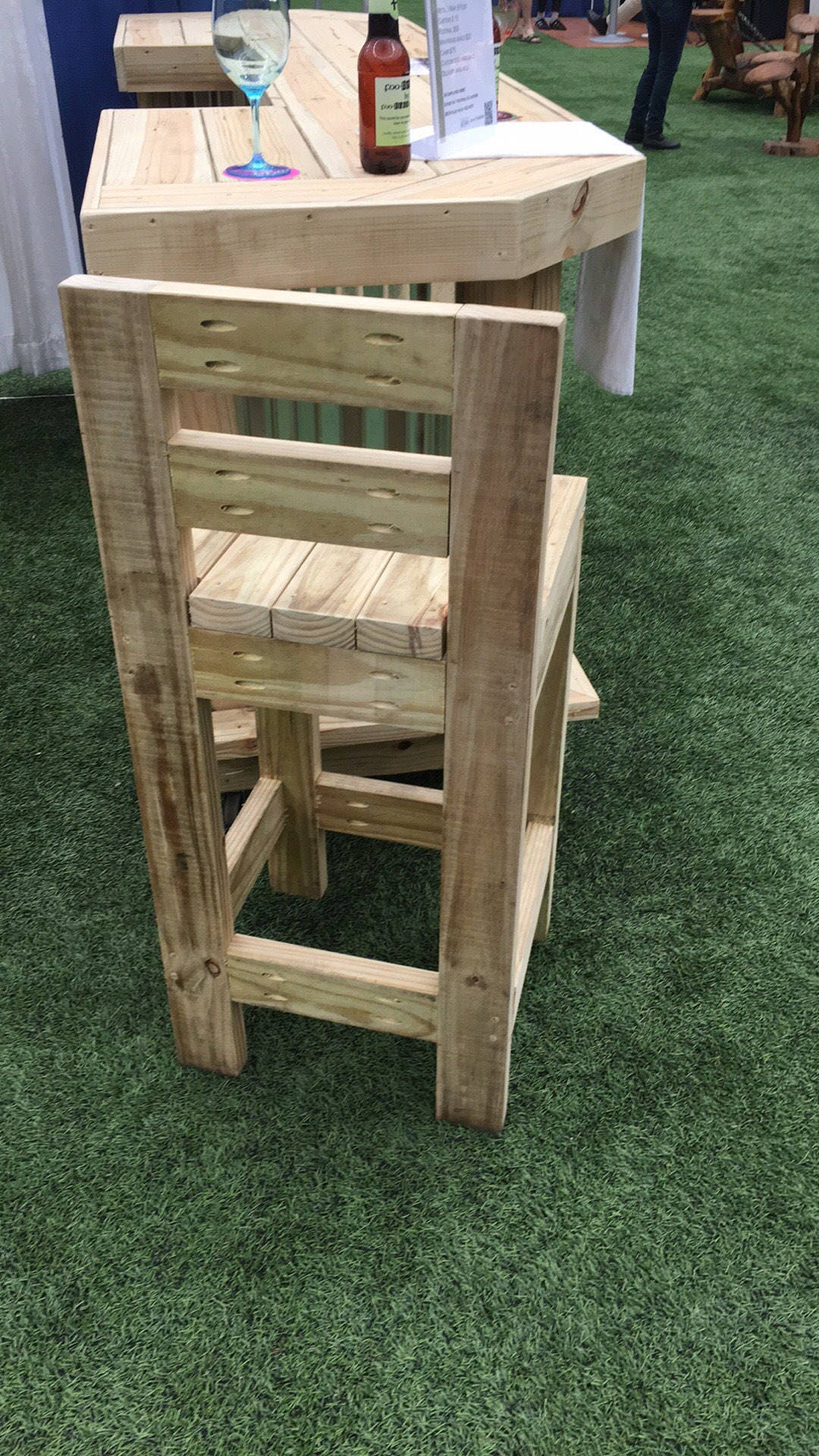 Exterior bar stool durable rustic outdoor bar stools hand made with exterior treated lumber Rustic outdoor bar stools